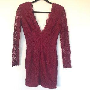 NWOT Tobi red lace dress